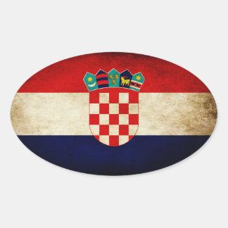 Croatia Flag Oval Sticker