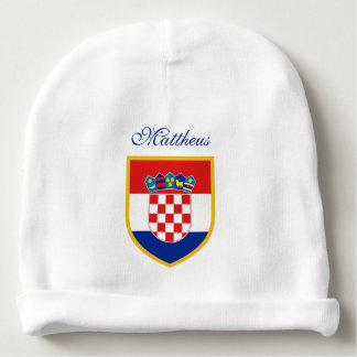 Croatia Flag Personalized Baby Beanie