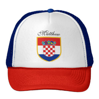 Croatia Flag Personalized Cap