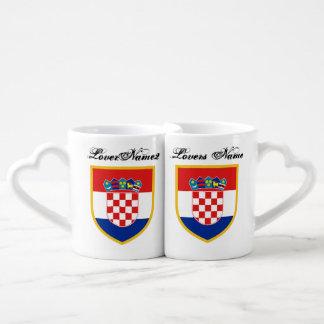 Croatia Flag Personalized Coffee Mug Set