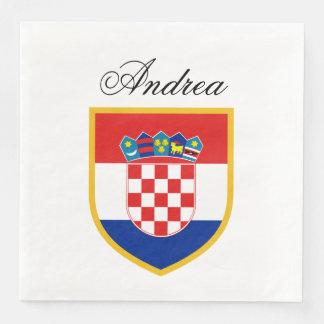 Croatia Flag Personalized Disposable Serviette