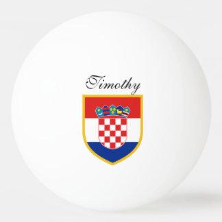 Croatia Flag Personalized Ping Pong Ball
