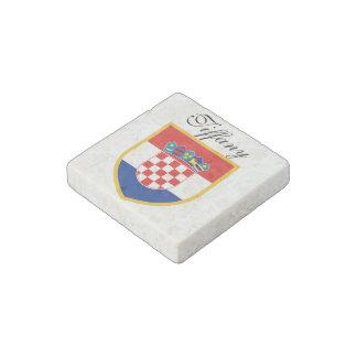 Croatia Flag Personalized Stone Magnet