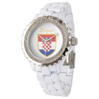 Croatia Flag Personalized Watch