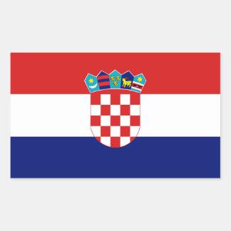 Croatia Flag Rectangular Sticker