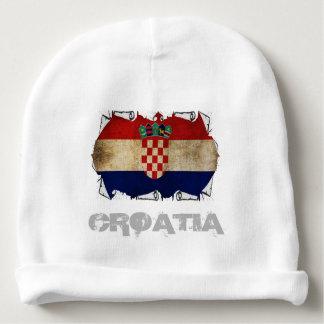 croatia flag ripped baby beanie