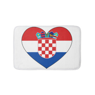 Croatia Flag Simple Bath Mats