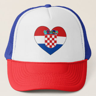 Croatia Flag Simple Trucker Hat