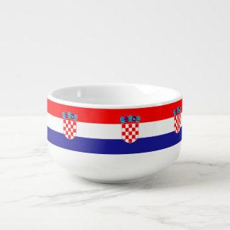 Croatia Flag Soup Mug