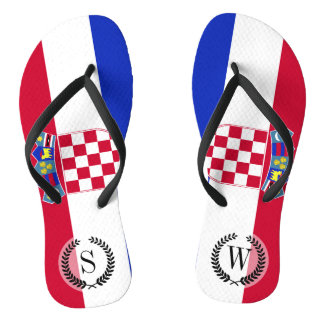 Croatia Flag Thongs
