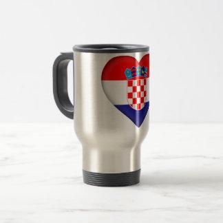 Croatia Flag Travel Mug