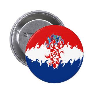 Croatia Gnarly Flag Button