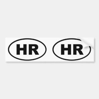 Croatia HR European oval Bumper Sticker