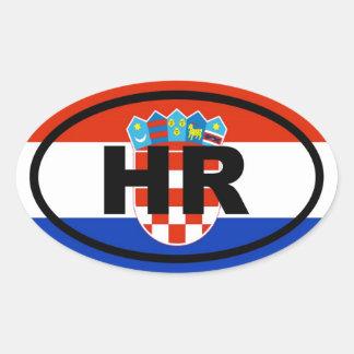 Croatia HR European Oval Sticker