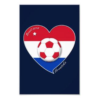 "Croatia ""HRVATSKA"" Soccer Team Soccer the Croatia  Art Photo"