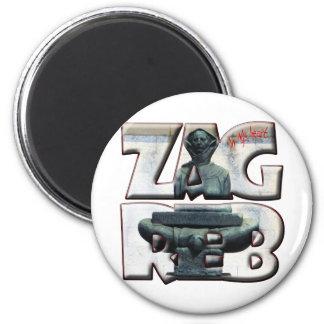 Croatia Hrvatska Zagreb 18A Popular Accessory Magnet