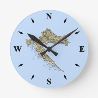 Croatia Map Clock