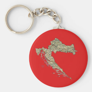 Croatia Map Keychain