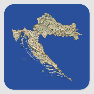 Croatia Map Sticker