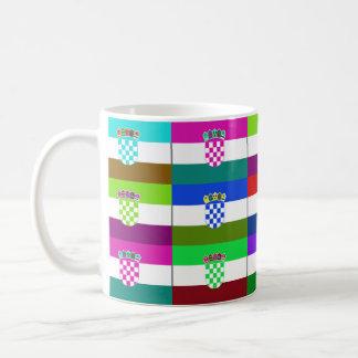 Croatia Multihue Flags Mug