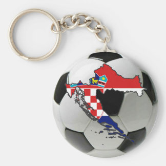 Croatia national team basic round button key ring