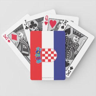 Croatia Plain Flag Bicycle Playing Cards