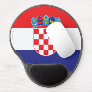 Croatia Plain Flag Gel Mouse Pad