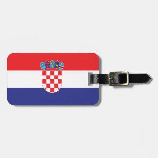 Croatia Plain Flag Luggage Tag