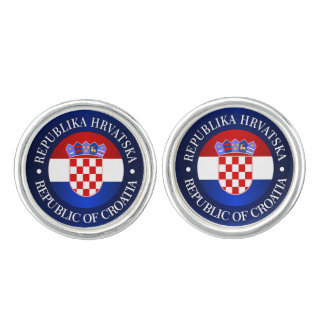 Croatia (rd) cuff links
