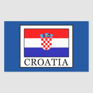 Croatia Rectangular Sticker