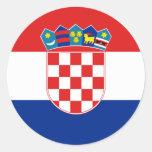 croatia round sticker