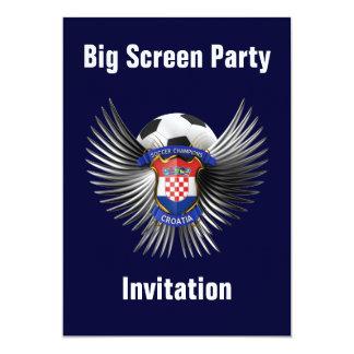 Croatia Soccer Champions 13 Cm X 18 Cm Invitation Card
