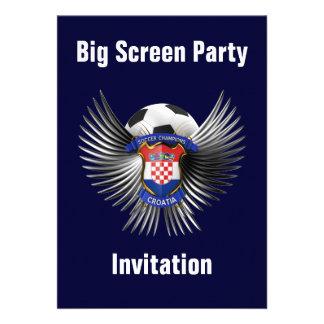 Croatia Soccer Champions Custom Invites