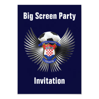 "Croatia Soccer Champions 5"" X 7"" Invitation Card"