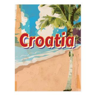 Croatia Vintage travel poster Post Card