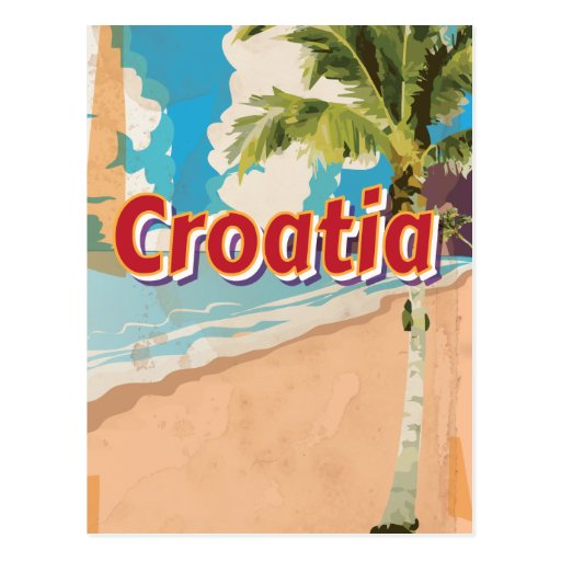 Croatia Vintage travel poster Post Card