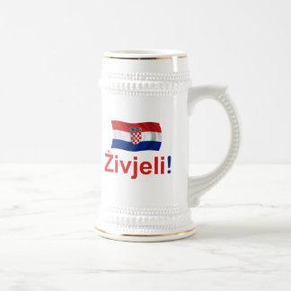 Croatia Zivjeli! (Cheers) Beer Stein