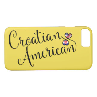 Croatian American Entwined Hearts Cell Phone Case