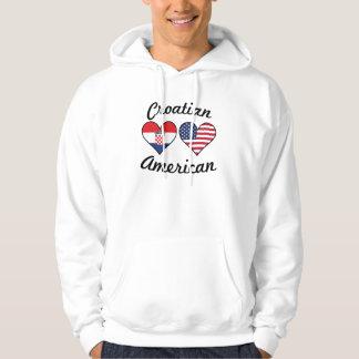 Croatian American Flag Hearts Hoodie