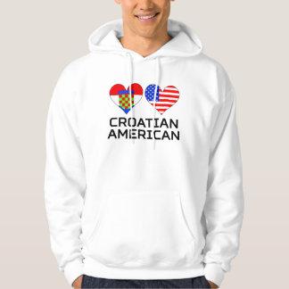 Croatian American Hearts Hoodie