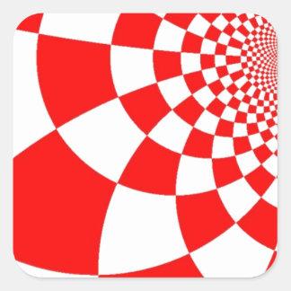 Croatian checkers square sticker