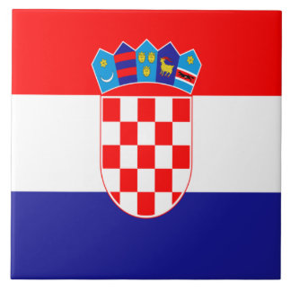 Croatian flag ceramic tile