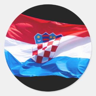 Croatian Flag Classic Round Sticker