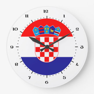Croatian flag clocks