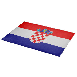 Croatian flag cutting board