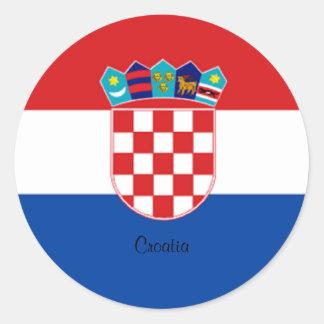 Croatian Flag design sticker