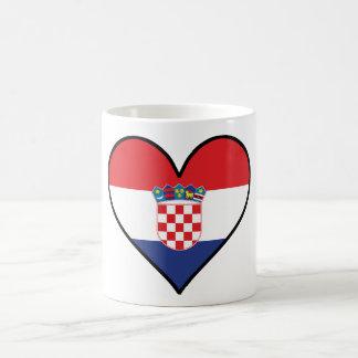 Croatian Flag Heart Coffee Mug