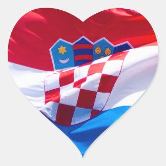 Croatian Flag Heart Sticker