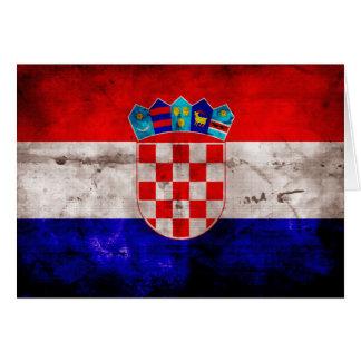Croatian Flag Note Card