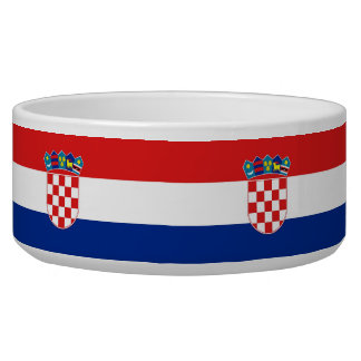 Croatian Flag Pet Bowl
